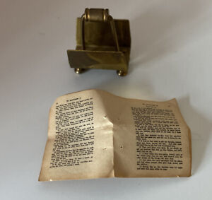 Vintage - Miniature - Newspaper Holder and Newspaper- Ideal For Dolls House