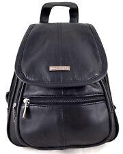kleiner Rucksack Cityrucksack Echt Leder BAG STREET 6625 kompakt schwarz