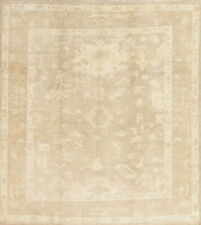 Vegetable Dye Square Muted Antique Look Oushak Turkish Square Area Rug Wool 8x9