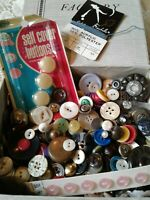 Antique Vintage Modern Button Lot Large Collection of Shell Old Plastics Metal
