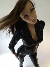 Jumpsuit Limited New Ladies Fashion  Catwoman Onesie Black Sexy Club Wear Small