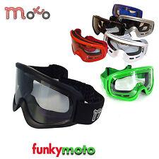 MOTO X1 MX MOTORRADBRILLE ERWACHSENE MOTOCROSS BMX QUAD SKI  BRILLE MATT SCHWARZ