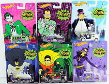 1/64 Hot Wheels Pop Culture DC Batman Classic TV Series Set of 6