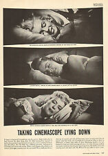1953 photo article Marilyn Monroe Grable and Bacall in bed in CINEMASCOPE 110615