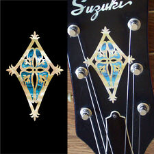 Shield (Abalone Blue) Inlay Sticker Guitar Bass Headstock Peghead