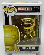 IRON MAN~ Funko POP (Gold Chrome)  Figure #375-Marvel Studios:10 Years ~NIB