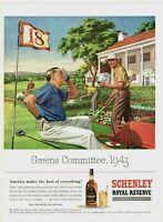 1943 ORIGINAL VINTAGE SCHENLEY ROYAL RESERVE WHISKY ALCOHOL MAGAZINE AD