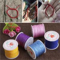 0.8mm Nylon Cord Thread Chinese Knot Macrame Rattail Bracelet Braided String DIY