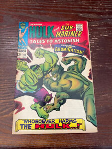 Tales to astonish 91 (Fn+) first abomination cover! 1967Collector key! Shang Chi