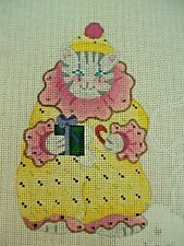 Needlepoint Hand Stitch Painted Canvas Dede Cat Clown 710B 24 Ct Congress
