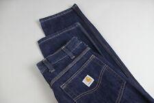 CARHARTT RANCH JEANS Men's W32/L32 Raw Denim Blue Jeans 20916_JL