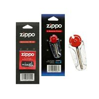Genuine Zippo Wick And 1 Pack of 6 Zippo Flints Replacement Refill Fast Shipping