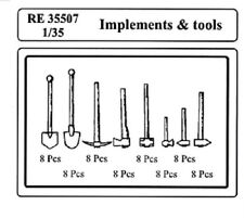 ATTACK HOBBY KITS RE 35507 - 1/35 IMPLEMENTS & TOOLS RESIN KIT