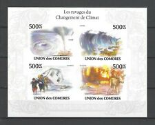 Comoros 2010  The Ravages of Climate Change  MNH Imperf Miniature Sheet