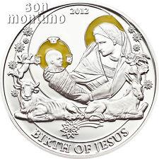 BIRTH OF JESUS - Biblical Stories Series Silver Proof Coin - 2012 Palau BOX+COA