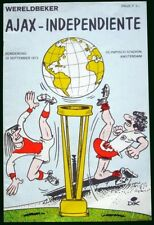 AJAX (3) vs INDEPENDIENTE (0) INTERCONTINENTAL CUP 1972 - ORIGINAL PROGRAM