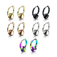 Captive BEAD Huggie Hoop Earrings Womens Mens EAR Piercing Rings Fashion JEWELRY