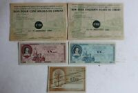 Anciens billets matière France (43365)