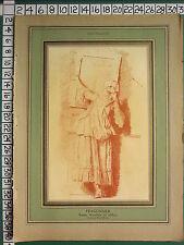 C1930 français imprimé l'illustration ~ fragonard lady lever un tableau