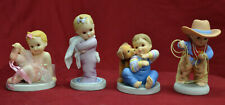 4) Marie Osmond Ashton-Drake Little Miracles Ceramic Figurines * Mint Cond *