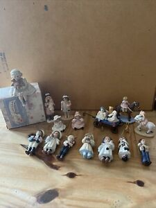 Lot Of 15 Vintage Jan Hagara Ornaments/figurines 1980's Slightly Used