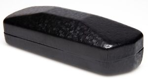 NEW Nice Clam Shell Hard Black Eyeglasses Glasses Case w/ Cleaning Cloth C14