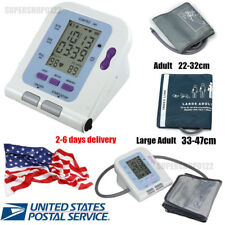 Digital LCD Upper Arm Blood Pressure Monitor Adult & large adult cuff+ Software