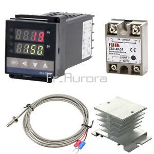 REX-C100 0-1300 ° C Digital PID Temperature controller SSR k Type Thermocouple