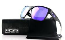 New OAKLEY 2 TWO FACE XL Polished Black Violet Iridium Sunglasses OO 9350-04