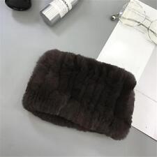 Women Wrap Real Rex Rabbit Fur Scarf Snood Collar Bib Neck Warmer Comfortable