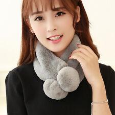 Fashion Women Lady Faux Fur Winter Scarf Scarves Collar Shawl Wrap Stole US