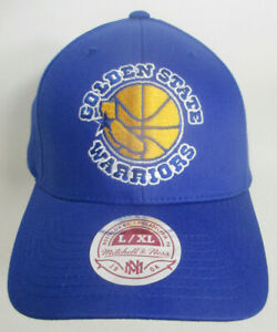 """Golden State Warriors Hat Fitted Aprox 7 1/2"""" Lg Mitchell & Ness NBA Cap"""