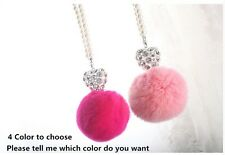 Pink Auto Car Mirror Pendant Interior Decor Accessories Hanging Ornament
