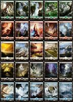 MTG Magic - (L) Battle for Zendikar - FULL ART LAND complete set of 25 - NM/M
