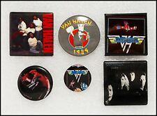Van Halen Lot Of 6 80's Buttons Pins Badges Sammy Hagar Ou812 1984 Tour Eddie