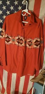 PANHANDLE SLIM COWBOY WESTERN PEARL SNAP SOUTHWESTERN LONG SLEEVE SHIRT..LARGE