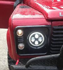 "La vendita!!! Land Rover Defender Led Fari Rhd 7"" 90 110 130 TDCi TD5 Angel Eye"