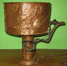 artisanat d'art, art populaire  - lampe cuivre et fer forgé, copper