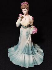 COALPORT Age of Elegance Summer Fragance Lady Figurine 1997 Signed.