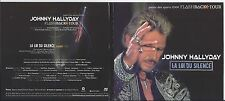 Johnny Hallyday CD PROMO un titre la loi du silence sous pochette carton