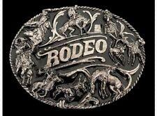 Detailed Rodeo Cattle Herding Cowboys Cowgirls Western Belt Buckle Buckles