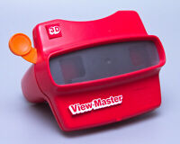 Vintage 1980s Model L GAF View-Master | Red with Orange Lever | Nice | Free S&H