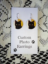 PET *Personalized* PHOTO EARRINGS with YOUR PICTURE - Custom Charm Earrings
