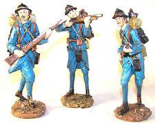 Trois statuettes de poilus - statuettes poilus première guerre mondiale
