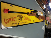 """TOY OLD TEX COWBOY CAP RIFLE 30"""" IN LENGTH WITH ORANGE RUBBER TIP"""