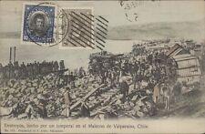CHILE DESTROZOS HECHO POR UN TEMPORAL EN EL MALECON DE VALPARAISO N° 132 ALLAN