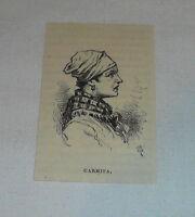 small 1878 magazine engraving ~ CARMITA ~ Cuba