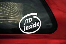 2x JTD inside stickers.For Fiat 500,punto,Bravo JTD