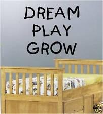 RÊVE JEU CROISSANCE ENFANTS DORMIR VINYLE ART MURAL AUTOCOLLANT CITATION