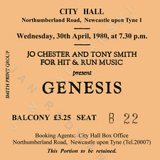 Genesis/Phil Collins Concert Coasters Ticket April 1980 High quality mdf